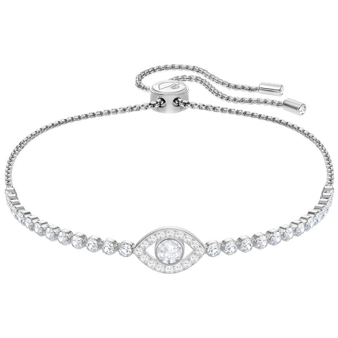 Swarovski Subtle Evil Eye Bracelet, White, Rhodium plating 5368546