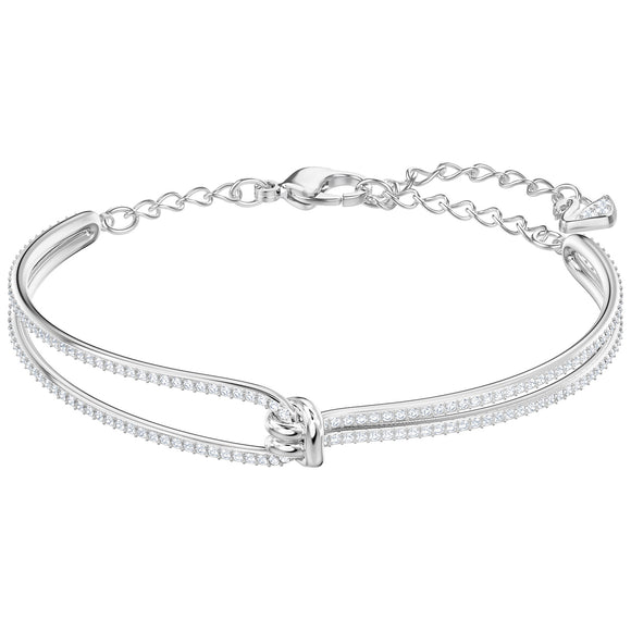 Swarovski Lifelong Bangle, White, Rhodium plating 5368552