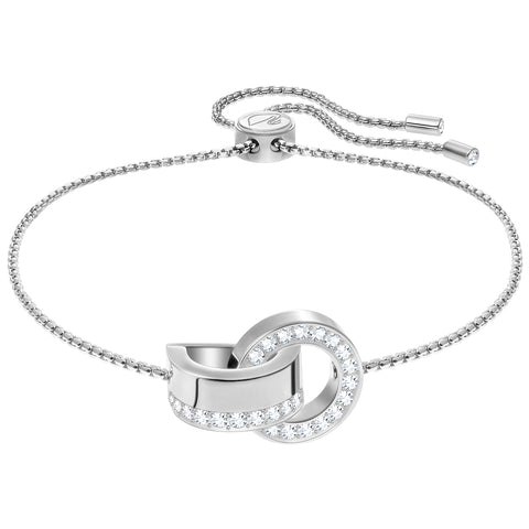 Swarovski Hollow Bracelet, White, Rhodium plating 5373969