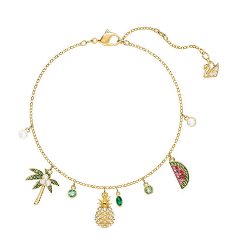 Swarovski Lime Bracelet, Multi-colored, Gold plating 5374337