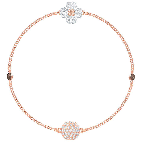Swarovski Remix Collection Clover, White, Rose gold plating 5375185