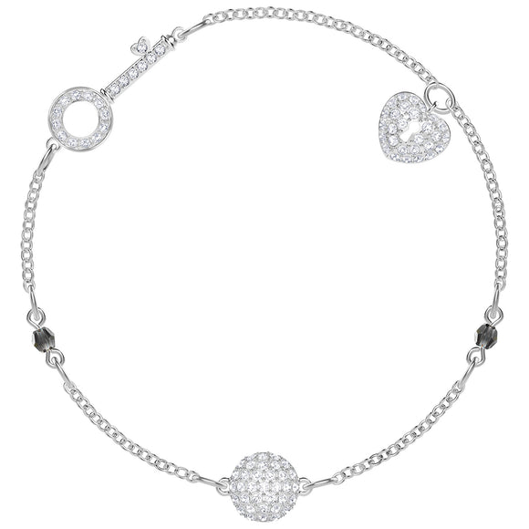 Swarovski Remix Collection Lock, White, Rhodium plating 5375194