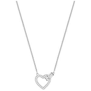 Swarovski Lovely Necklace, White, Rhodium plating 5380703