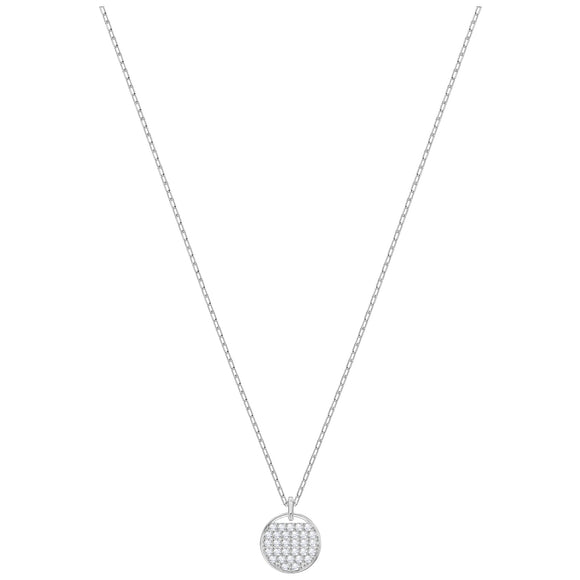 Swarovski Ginger Pendant, White, Rhodium plating 5389045