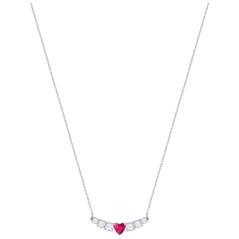 Swarovski Love Necklace, White, Rhodium plating 5408434