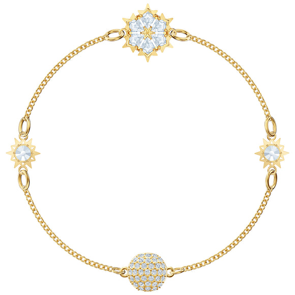 Swarovski Remix Collection Snowflake Strand, White, Gold-tone plated 5511086