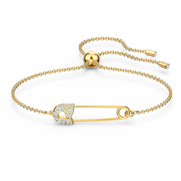 Swarovski So Cool Pin Bracelet, White, Gold-tone plated 5512739