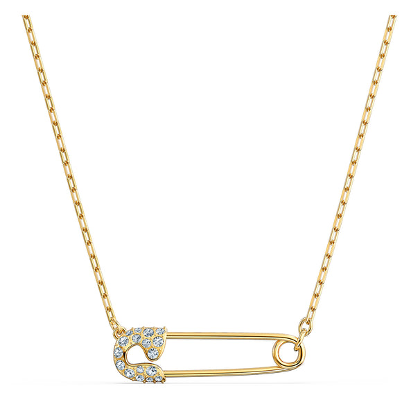 Swarovski So Cool Pin Necklace, White, Gold-tone plated 5512760