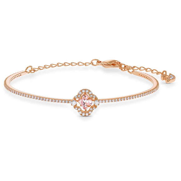 Swarovski Sparkling Dance Bangle, Pink, Rose-gold tone plated 5516476