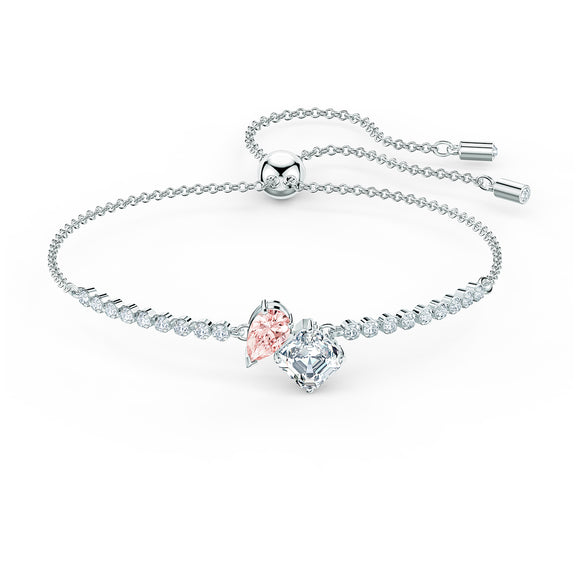 Swarovski Attract Soul Bracelet, Pink, Rhodium plated 5517120