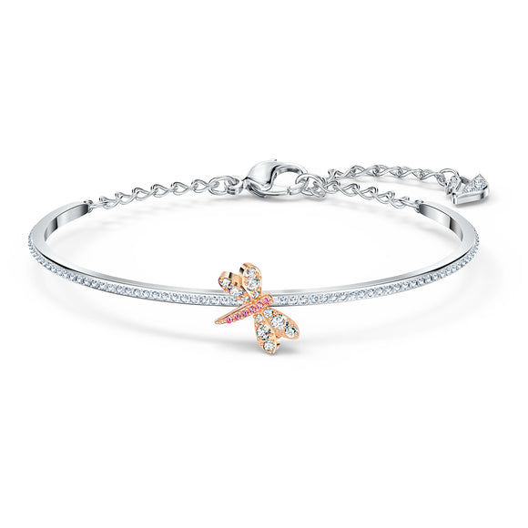 Swarovski Eternal Flower Bangle, Pink, Mixed metal finish 5518138