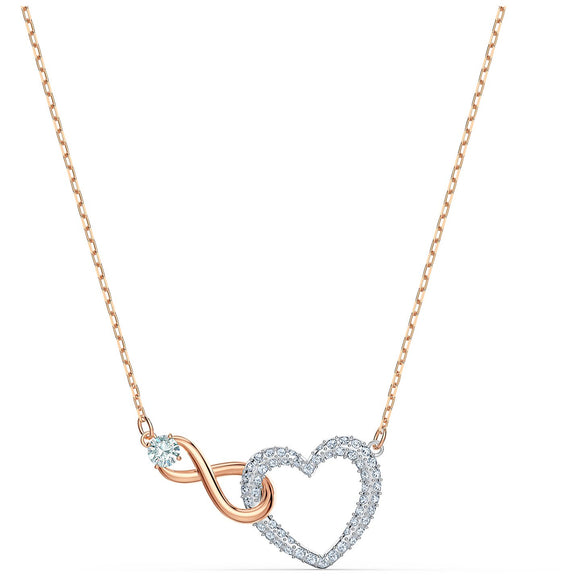 Swarovski Infinity Heart Necklace, White, Mixed metal finish 5518865