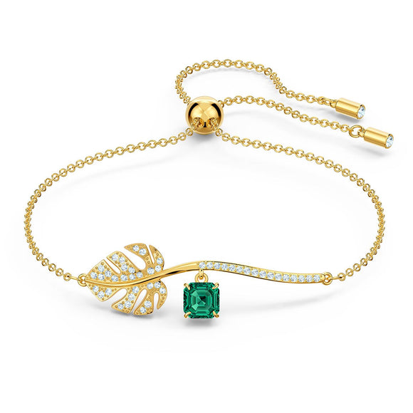 Swarovski Tropical Bracelet, Green, Gold-tone plated 5519234