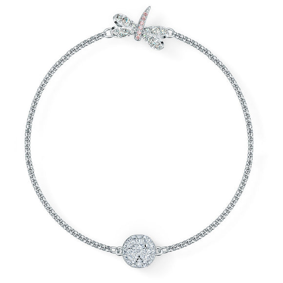 Swarovski Remix Collection Dragonfly Strand, White, Rhodium plated 5520650