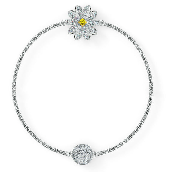 Swarovski Remix Collection Flower Strand, White, Rhodium plated 5520651
