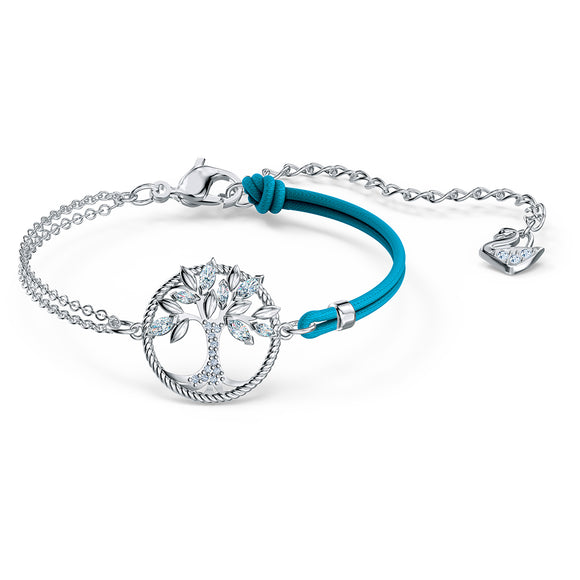 Swarovski Symbolic Tree of Life Bracelet, Blue, Rhodium plated 5521494