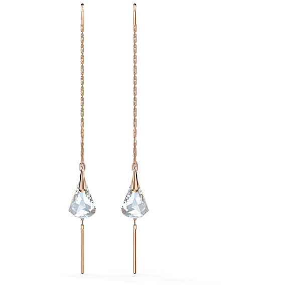 Swarovski Spirit Pierced Earrings, White, Rose-gold tone plated 5527396
