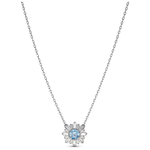 Swarovski Sunshine Pendant, Blue, Rhodium plated 5536742