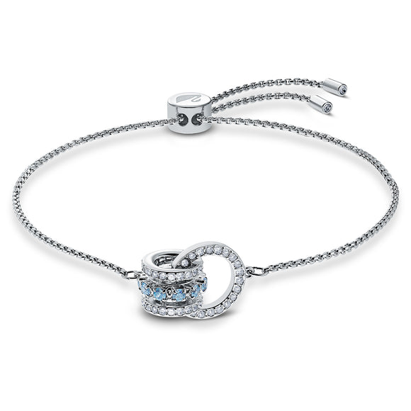 Sawrovski Further Bracelet, Blue, Rhodium plated 5537123