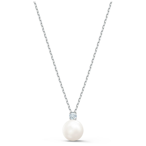 Swarovski Treasure Pearl Necklace, White, Rhodium plated 5563288