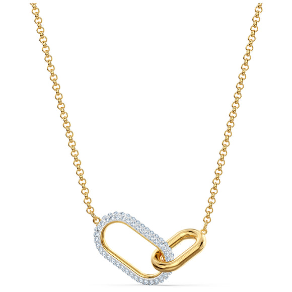 Swarovski Time Necklace, Medium, White, Mixed metal finish 5566227