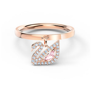 Swarovski Dazzling Swan Ring, Pink, Rose-gold tone plated 5569922