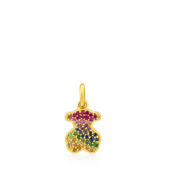Tous Gold Icon Gems Pendant with Sapphire 612534040