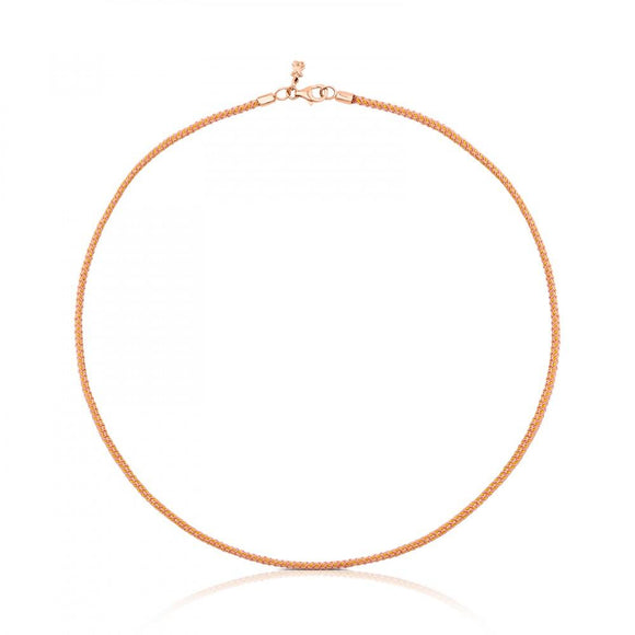 Tous Rose Vermeil Silver TOUS Choker and pink Cord 711902590