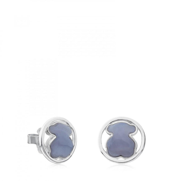Tous Silver Camille Earrings with Chalcedony 712163560