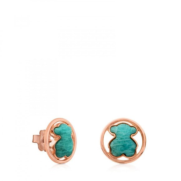 Tous Rose Vermeil Silver Camille Earrings with Amazonite 712163590