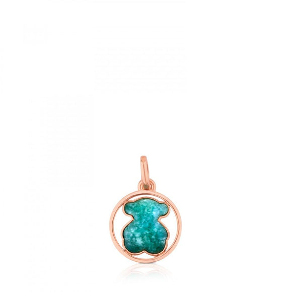 Tous Rose Vermeil Silver Camille Pendant with Amazonite 712164630