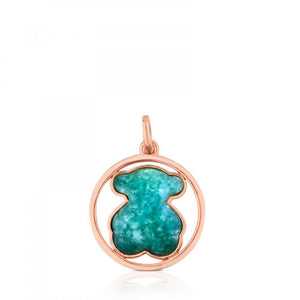 Tous Rose Vermeil Silver Camille Pendant with Amazonite 712164640