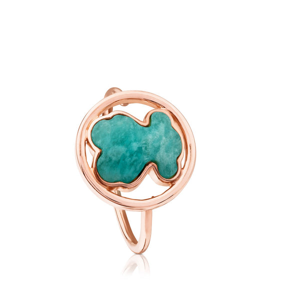 Tous Rose Vermeil Silver Camille Ring with Amazonite 712165591