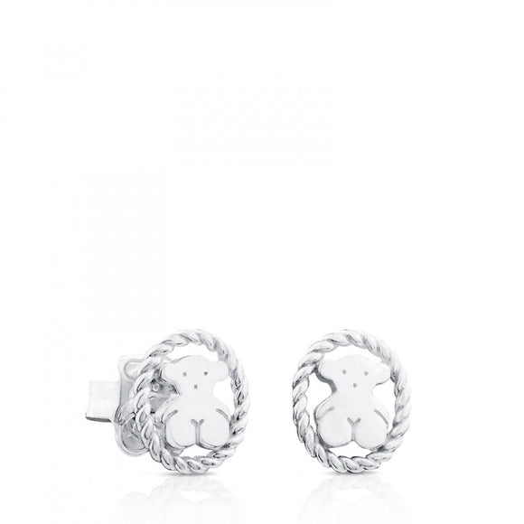 Tous Silver Camee Earrings 712323620