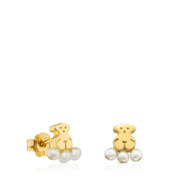 Tous Gold Sweet Dolls XXS Earrings with Pearls 712783000