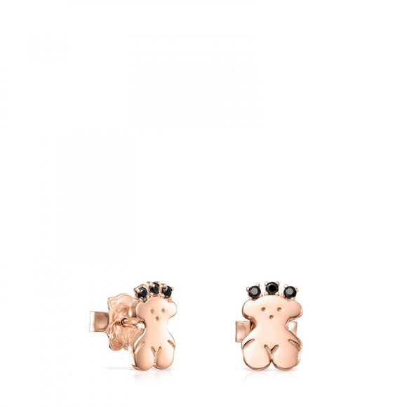 Tous Rose Gold Vermeil Real Sisy bear Earrings with Spinels 812453580