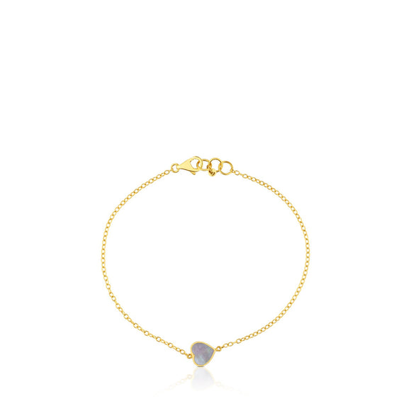 Tous Gold and Mother-of-pearl XXS heart Bracelet 812781000