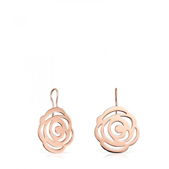 Tous Short rose Vermeil Silver Rosa de Abril Earrings 815033520