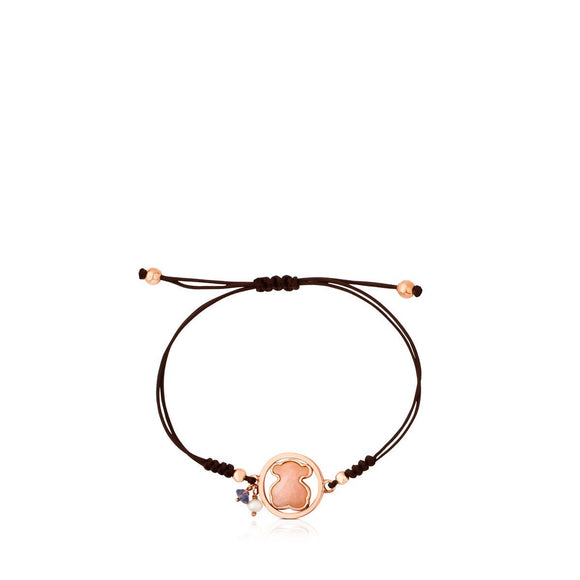 Tous Silver Camille Bracelet with Rose Quartz, Iolite and Pearl 712161630
