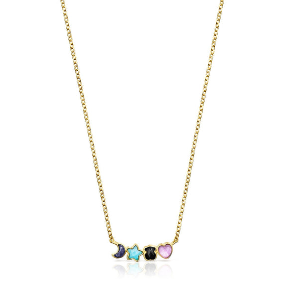 Tous Glory Necklace in Gold Vermeil with Gemstones 918592510