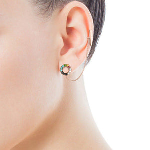 Tous Rose Gold Vermeil Straight Earring with Gemstones 912723500