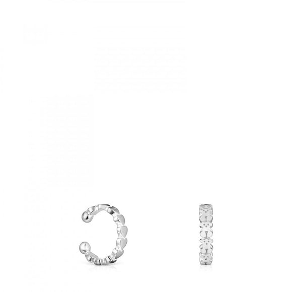 Tous Pack of Silver Straight Earcuffs 912723550