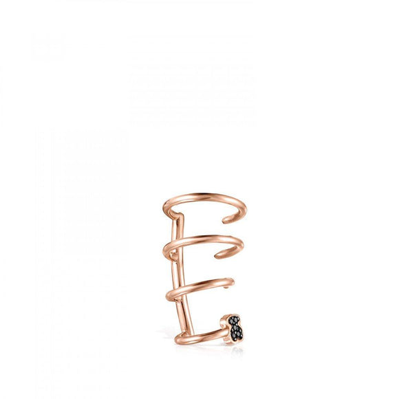Tous Rose Gold Vermeil Motif spiral Earcuff with Spinels 914933510