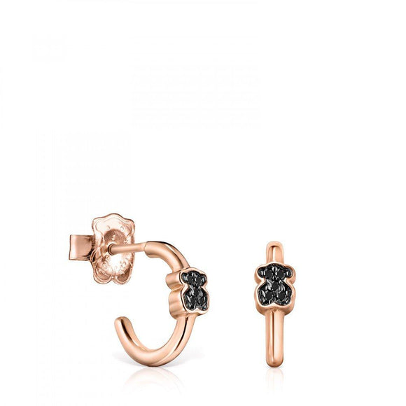 Tous Rose Gold Vermeil Motif Earrings with Spinels 914933620