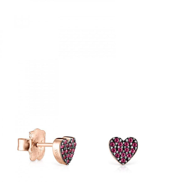 Tous Rose Gold Vermeil San Valentín Earrings with Ruby 915303530
