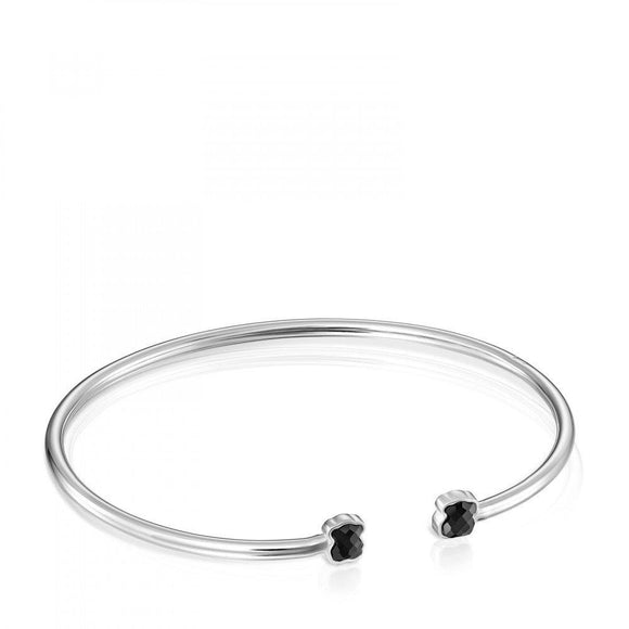 Tous Mini Color Bracelet in Silver with Onyx 918451500