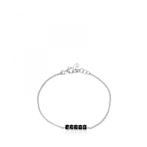 Tous Mini Onix Bracelet in Silver with Onyx 918451530