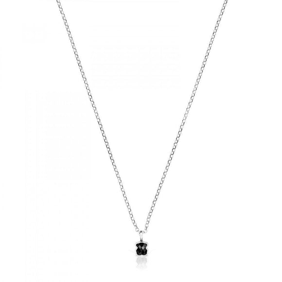 Tous Mini Onix - Color Necklace in Silver with Onyx 918452520