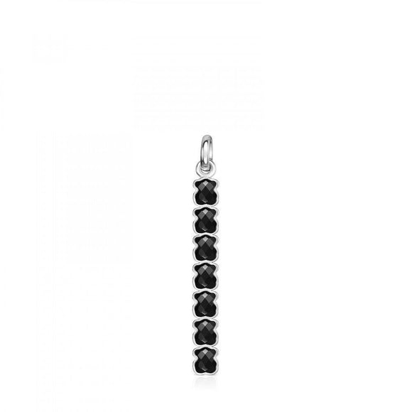 Tous Mini Onix - Color Pendant in Silver with Onyx 918454500