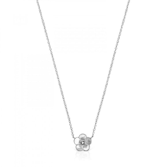 Tous Silver Vita Flower Necklace 918532500